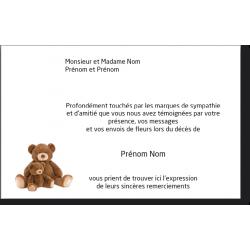 Carte de Remerciements de Condoléances - CD128x82IT_ENF4