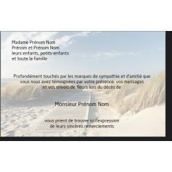Carte de Remerciements - PAY8