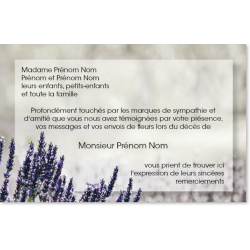 Carte de Remerciements - PAY4